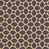 Seamless Vector Pattern in Arabian Style. Seamless vector ornament in arabian style. Geometric abstract brown and golden background. Pattern for wallpapers and Stock Photography
