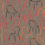 Seamless vector pattern with armchairs abstract Stock Photo