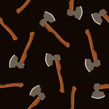 Seamless vector pattern of the axes Royalty Free Stock Photos