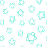 Seamless vector pattern - azure stars (hand drawn with watercolor pencils) Stock Photos