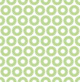 Seamless vector pattern background. Abstract decorative green circles on white background. Stock Photos