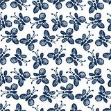Seamless vector pattern, background with cute butterflies on the white backdrop. Royalty Free Stock Image