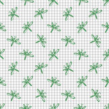 Seamless vector pattern, background with cute dragonflies  Stock Photography
