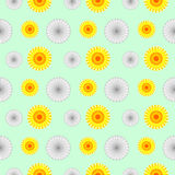Seamless vector pattern. Background with elements of flowers Royalty Free Stock Image