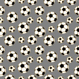 Seamless vector pattern, background with elements of soccer ball Stock Photography