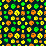Seamless vector pattern, background with elements of tennis balls Stock Image