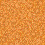 Seamless vector pattern background with floral shapes made with dots stock illustration