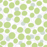 Seamless vector pattern background. Green bubbles seamless vector pattern background Royalty Free Stock Photos