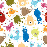 Seamless vector pattern with bacteria Stock Photos