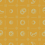 Seamless vector pattern with bakery products Royalty Free Stock Photo