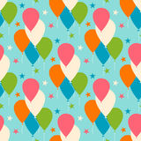 Seamless vector pattern with balloons. Royalty Free Stock Images