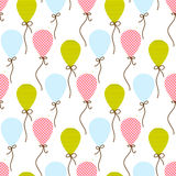 Seamless vector pattern with  balloons Stock Photo