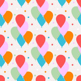 Seamless vector pattern with balloons Stock Image