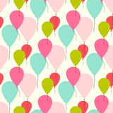 Seamless vector pattern with balloons Royalty Free Stock Photos