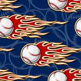 Seamless vector pattern with baseball softball ball icon and flame. Seamless pattern with baseball softball ball symbol and hot rod flame. Vector illustration Royalty Free Stock Photography