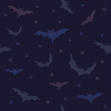 Seamless vector pattern with bats Royalty Free Stock Image