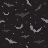 Seamless vector pattern with bats Stock Image