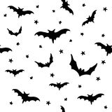 Seamless vector pattern with bats. Endless texture can be used for printing onto fabric, paper or scrap booking, wallpaper, pattern fills, web page background vector illustration