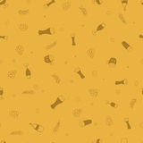 Seamless vector pattern with beer. For textile, ceramics, fabric, print, cards, wrapping Royalty Free Stock Photography