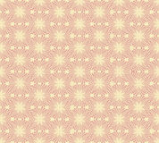 Seamless vector pattern with beige floral theme Royalty Free Stock Photo