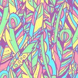 Seamless vector pattern with big feathers Royalty Free Stock Photography
