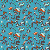 Seamless vector pattern birds and flowers Royalty Free Stock Photo