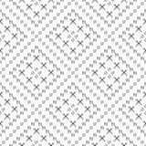 Seamless vector pattern. Black and white geometrical background with hand drawn circles, cross and lines. Simple design Stock Photos