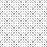 Seamless vector pattern. Black and white geometrical background with hand drawn circles and cross. Simple design Royalty Free Stock Photos