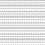 Seamless vector pattern.. Black and white geometrical background with hand drawn circles, squares, triangles and lines. Simple design. Series of Hand Drawn Stock Image