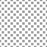 Seamless vector pattern. Black and white geometrical background with hand drawn decorative elements. Print with simple geometric m. Otifs. Graphic vector Stock Photo