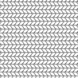 Seamless vector pattern. Black and white geometrical background with hand drawn lines in the shape of zigzag. Simple design Royalty Free Stock Image
