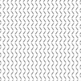 Seamless vector pattern. Black and white geometrical background with hand drawn lines in the shape of zigzag. Simple design. Royalty Free Stock Photos