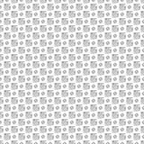 Seamless vector pattern. Black and white geometrical background with hand drawn squares and circles Simple design Stock Photography