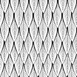 Seamless vector black and white leaf pattern vector illustration