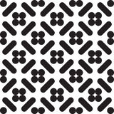 Seamless vector pattern. Seamless vector black and white minimal geometric lines memphis pattern abstract background Vector Illustration
