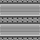 Seamless vector pattern. Black and white traditional etno background. Stock Photo