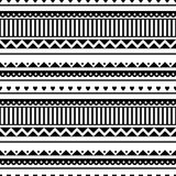 Seamless vector pattern. Black and white traditional etno background Royalty Free Stock Photography