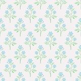 Seamless vector pattern with blue flowers Stock Photography