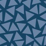 Seamless vector pattern Blue Triangles random vector illustration