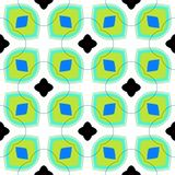 Seamless vector pattern with bold geometric shapes Stock Photo