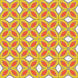 Seamless vector pattern with bold geometric shapes. In 1970s style Stock Photography