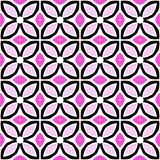 Seamless vector pattern with bold geometric shapes. In 1970s style Royalty Free Stock Images