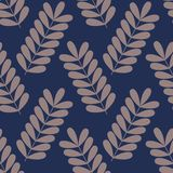 Seamless vector pattern with branches. Background for design Royalty Free Stock Photos