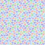 Seamless vector pattern, bright colorful  background with hearts Royalty Free Stock Image