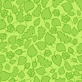 Seamless vector pattern with bright green leaves Royalty Free Stock Photos