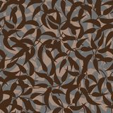 Seamless vector pattern with brown leaves stock illustration