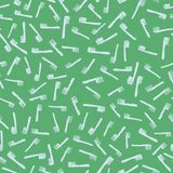 Seamless vector pattern with brushes royalty free illustration
