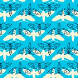 Seamless vector pattern with butterflies Stock Photography