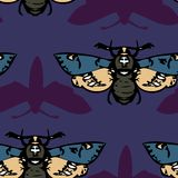 Seamless vector pattern with butterflies Royalty Free Stock Photo