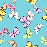 Seamless vector pattern with butterflies Stock Images